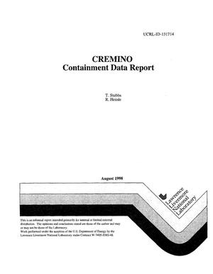 Primary view of object titled 'Containment data report - CREMINO'.