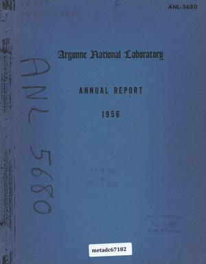 Primary view of object titled 'Argonne National Laboratory Annual Report: 1956'.