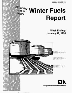 Primary view of object titled 'Winter fuels report. Week ending: January 12, 1996'.