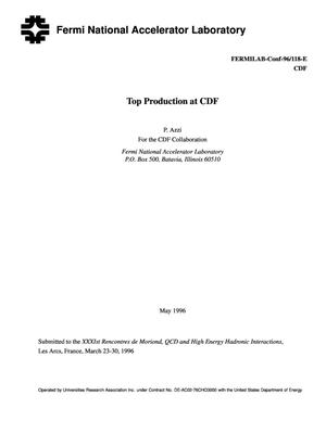 Primary view of object titled 'Top production at CDF'.