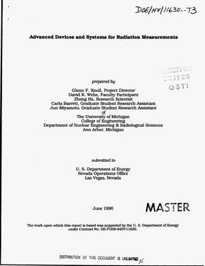 Primary view of object titled 'Advanced devices and systems for radiation measurements'.