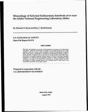 Primary view of object titled 'Mineralogy of selected sedimentary interbeds at or near the Idaho National Engineering Laboratory, Idaho'.