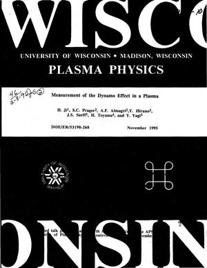 Primary view of object titled 'Measurement of the dynamo effect in a plasma'.