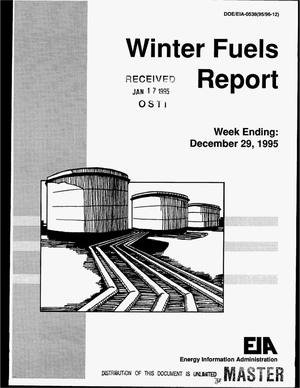 Primary view of object titled 'Winter fuels report. Week ending: December 29, 1995'.