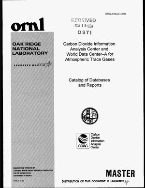Primary view of object titled 'Catalog of databases and reports'.