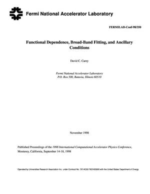 Primary view of object titled 'Functional dependence, broad-band fitting, and ancillary conditions'.