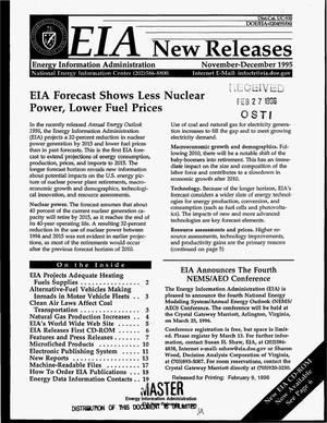 Primary view of object titled 'EIA new releases, November--December 1995'.