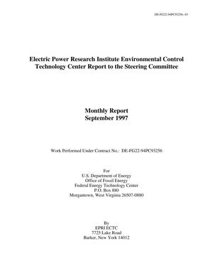 Primary view of object titled 'Electric Power Research Institute Environmental Control Technology Center Report to the Steering Committee'.