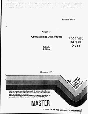 Primary view of object titled 'NORBO containment data report'.