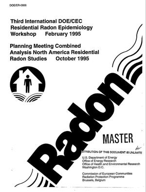 Primary view of object titled 'Planning meeting combined analysis, North America residential radon studies'.