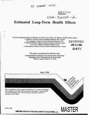 Primary view of object titled 'Estimated long-term health effects'.