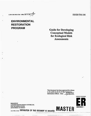 Primary view of object titled 'Guide for developing conceptual models for ecological risk assessments'.