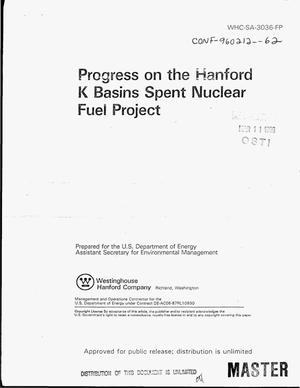 Primary view of object titled 'Progress on the Hanford K basins spent nuclear fuel project'.