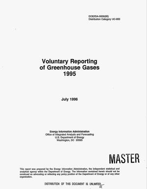Primary view of object titled 'Voluntary reporting of greenhouse gases, 1995'.