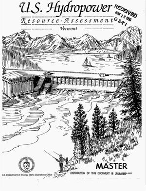 Primary view of object titled 'US hydropower resource assessment for Vermont'.