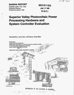 Primary view of object titled 'Superior Valley photovoltaic power processing and system controller evaluation'.