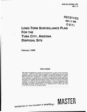 Primary view of object titled 'Long-term surveillance plan for the Tuba City, Arizona disposal site'.