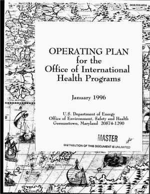 Primary view of object titled 'Operating plan for the Office of International Health Programs'.