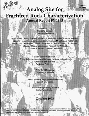Primary view of object titled 'Analog site for fractured rock characterization. Annual report FY 1995'.