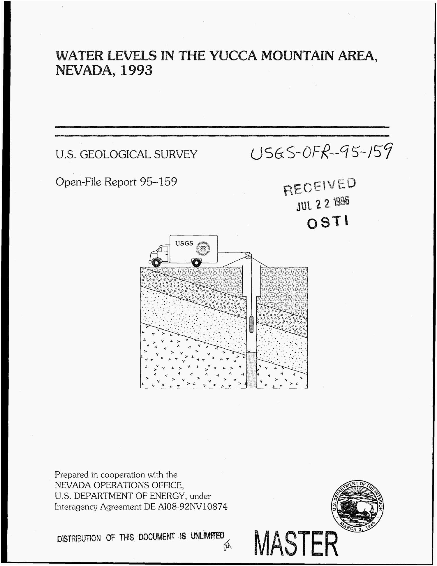 Water levels in the Yucca Mountain area, Nevada, 1993                                                                                                      [Sequence #]: 1 of 104