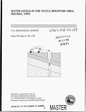 Primary view of object titled 'Water levels in the Yucca Mountain area, Nevada, 1993'.