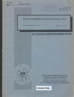 Primary view of object titled 'Proposal for an Advanced Engineering Test Reactor : ETR II'.