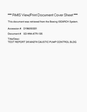 Primary view of object titled 'Test report - 241-AN-274 Caustic Pump Control Building'.