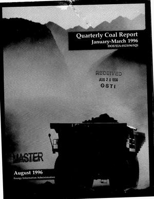 Primary view of object titled 'Quarterly coal report, January--March 1996'.