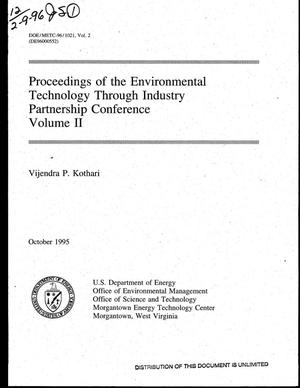 Primary view of object titled 'Proceedings of the environmental technology through industry partnership conference. Volume 2'.