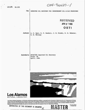 Primary view of object titled 'Improved oil recovery for independent oil and gas producers'.