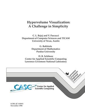 Primary view of object titled 'Hypervolume visualization: a challenge in simplicity'.