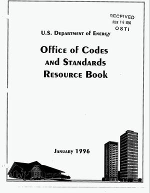 Primary view of object titled 'US Department of Energy Office of Codes and Standards resource book'.