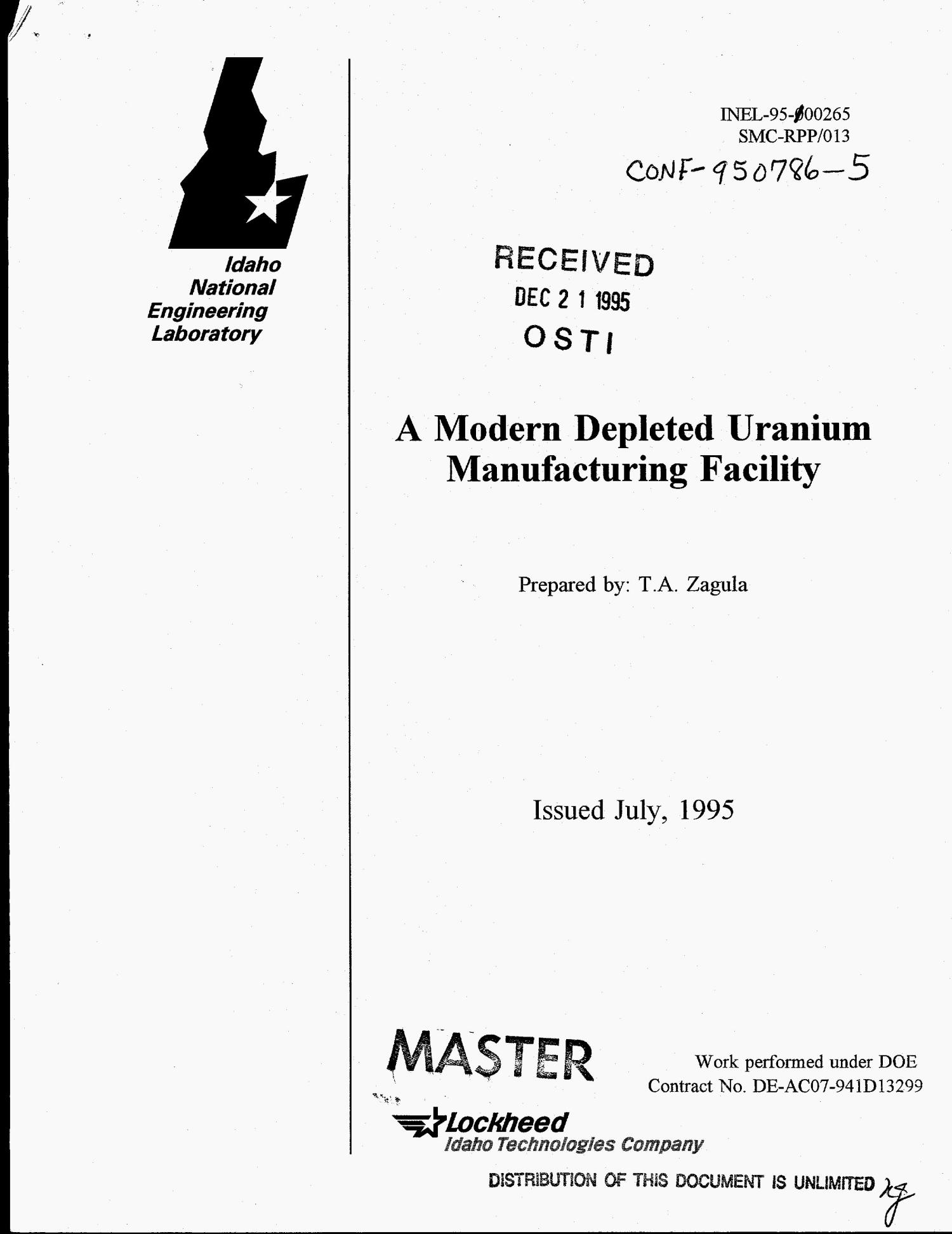 A modern depleted uranium manufacturing facility                                                                                                      [Sequence #]: 1 of 11