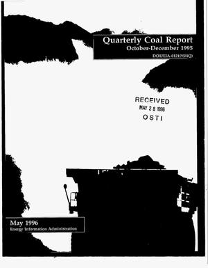Primary view of object titled 'Quarterly coal report'.
