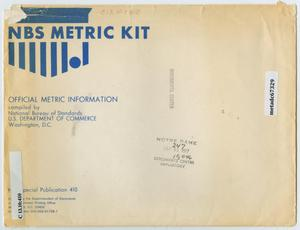 Primary view of object titled 'NBS Metric Kit : Official Metric Information'.