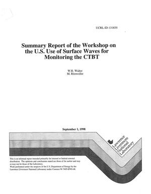 Primary view of object titled 'Summary report of the workshop on the U.S. use of surface waves for monitoring the CTBT'.