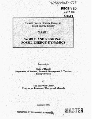 Primary view of object titled 'Hawaii energy strategy project 2: Fossil energy review. Task 1: World and regional fossil energy dynamics'.