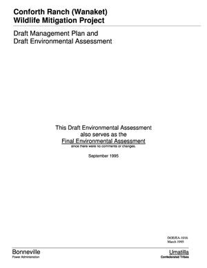 Primary view of object titled 'Conforth Ranch (Wanaket) Wildlife Mitigation Project : Draft Management Plan and Draft Environmental Assessment.'.