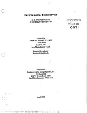 Primary view of object titled 'Environmental Field Surveys, EMF Rapid Program, Engineering Project No.3'.