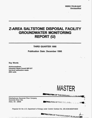 Primary view of object titled 'Z-Area Saltstone Disposal Facility groundwater monitoring report'.