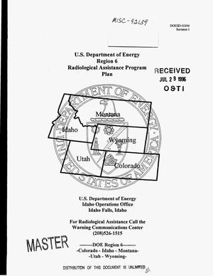 Primary view of object titled 'DOE Region 6 Radiological Assistance Program plan. Revision 1'.