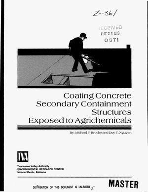 Primary view of object titled 'Coating concrete secondary containment structures exposed to agrichemicals'.