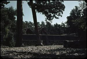 Primary view of object titled 'Ise Shrine from gardens'.