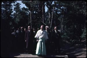 Primary view of object titled 'Priests, pilgrims at the Ise Grand Shrine'.