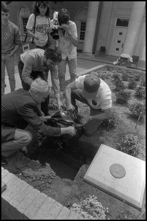 Primary view of Lowering the Time Capsule