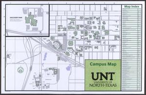 Primary view of object titled '[University of North Texas: Campus Map, 2014/15]'.