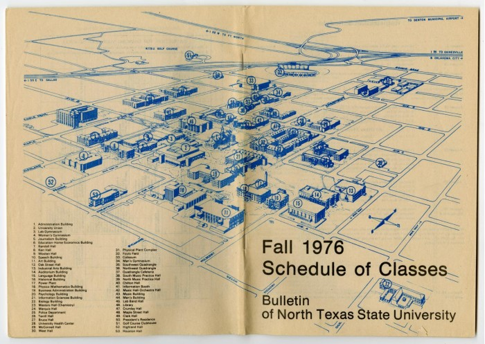 Bulletin of N.T.S.U.: Fall 1976, Schedule of Cles, Campus ... on