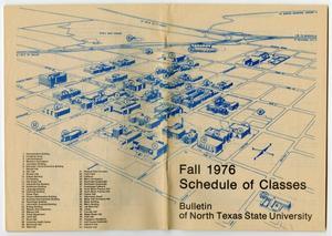tx state campus map Bulletin Of N T S U Fall 1976 Schedule Of Classes Campus Map tx state campus map
