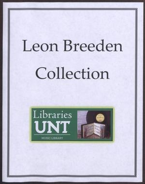 Primary view of object titled '[Leon Breeden Scrapbook: 1968, Volume A/B]'.