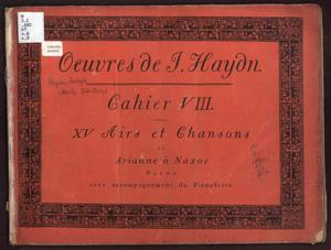Primary view of object titled 'Oeuvres de J. Haydn, Cahier VIII'.
